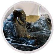 The Egyptian Museum Of Antiquities - Cairo Egypt Round Beach Towel