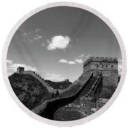 The Great Wall Of China Near Jinshanling Village, Beijing Round Beach Towel