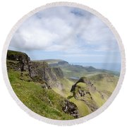 The Quiraing Round Beach Towel