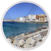 Trapani - Sicily Round Beach Towel