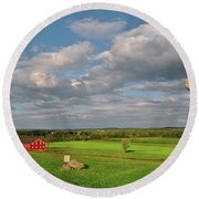 90th Pennsylvania Round Beach Towel