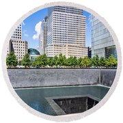 911 Memorial - Panorama Round Beach Towel