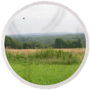 #940 D1095 Farmer Browns West Newbury Round Beach Towel