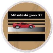 99 Mitsubishi 3000 Gt Round Beach Towel