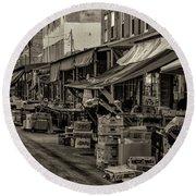 9th Street Italian Market - Philadelphia Pennsylvania Round Beach Towel