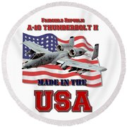 A-10 Thunderbolt Made In The Usa Round Beach Towel