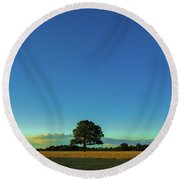 A Beautiful Lonely Tree Round Beach Towel
