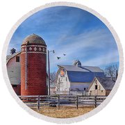 A Beautiful Quilt Barn Round Beach Towel