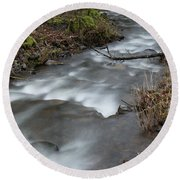 A Bend In The Flow Round Beach Towel