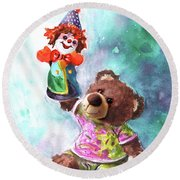 A Birthday Clown For Miki De Goodaboom Round Beach Towel