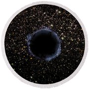 A Black Hole In A Globular Cluster Round Beach Towel