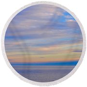 A Blue-tiful Day On Lake Superior Round Beach Towel