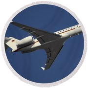 A Bombardier Global 5000 Vip Jet Round Beach Towel by Timm Ziegenthaler