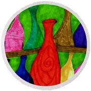 A Bottle Collection Round Beach Towel