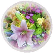 A Bouquet For My Love 46 Round Beach Towel