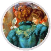 A Box In The Theater Des Varietes 1898 Round Beach Towel