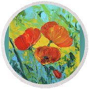 A Breath Of Spring Round Beach Towel