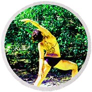 A Breath - Still - In The Moment Round Beach Towel