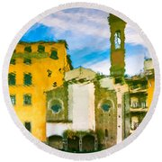 A Breeze Over Florence Round Beach Towel