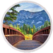 A Bridge To Beauty Round Beach Towel