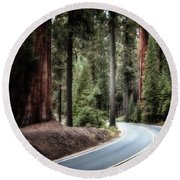 A Bright Future Around The Bend Round Beach Towel