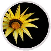 A Bright Yellow Star Round Beach Towel