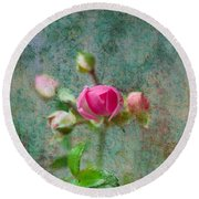 A Bud - A Rose Round Beach Towel