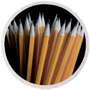 A Bunch Of Pencils Round Beach Towel