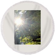 A Burst Of Sunshine  Round Beach Towel