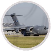 A C-17 Globemaster Strategic Transport Round Beach Towel