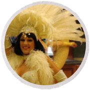 People Series - A C Showgirl Round Beach Towel