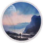 A Call For Miracles Round Beach Towel
