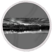 A Calm Day In The Adirondacks Round Beach Towel