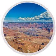 A Canyon Grand Round Beach Towel
