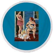 A Certain Dignity Round Beach Towel