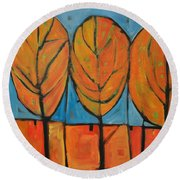 A Change Of Seasons Round Beach Towel