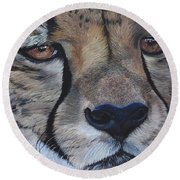 A Cheetah Round Beach Towel