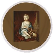 A Child Of The Pierpont Family Round Beach Towel