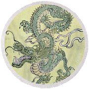 A Chinese Dragon Round Beach Towel