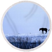 A Cold Winter Round Beach Towel