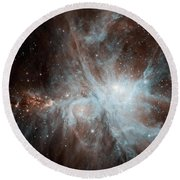 A Colony Of Hot Young Stars Round Beach Towel by Stocktrek Images