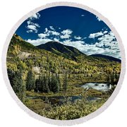 A Colorado Autumn Round Beach Towel