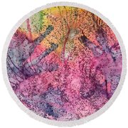 A Colorful Lecture On Glitter Round Beach Towel
