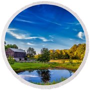 A Country Place Round Beach Towel