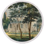 A Country Residence Possibly General Moreau's Country House At Morrisville Pennsylvania Round Beach Towel