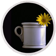 A Cup Of Flower Round Beach Towel