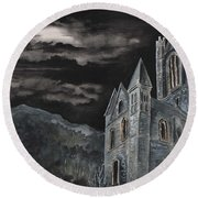 A Dark Strange Night  Round Beach Towel