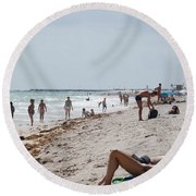 A Day At Paradise Beach Round Beach Towel