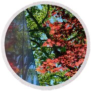 A Day Of Reflection Round Beach Towel