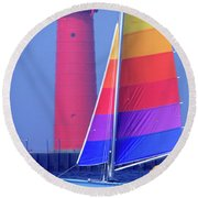 A Day Of Sailing Round Beach Towel